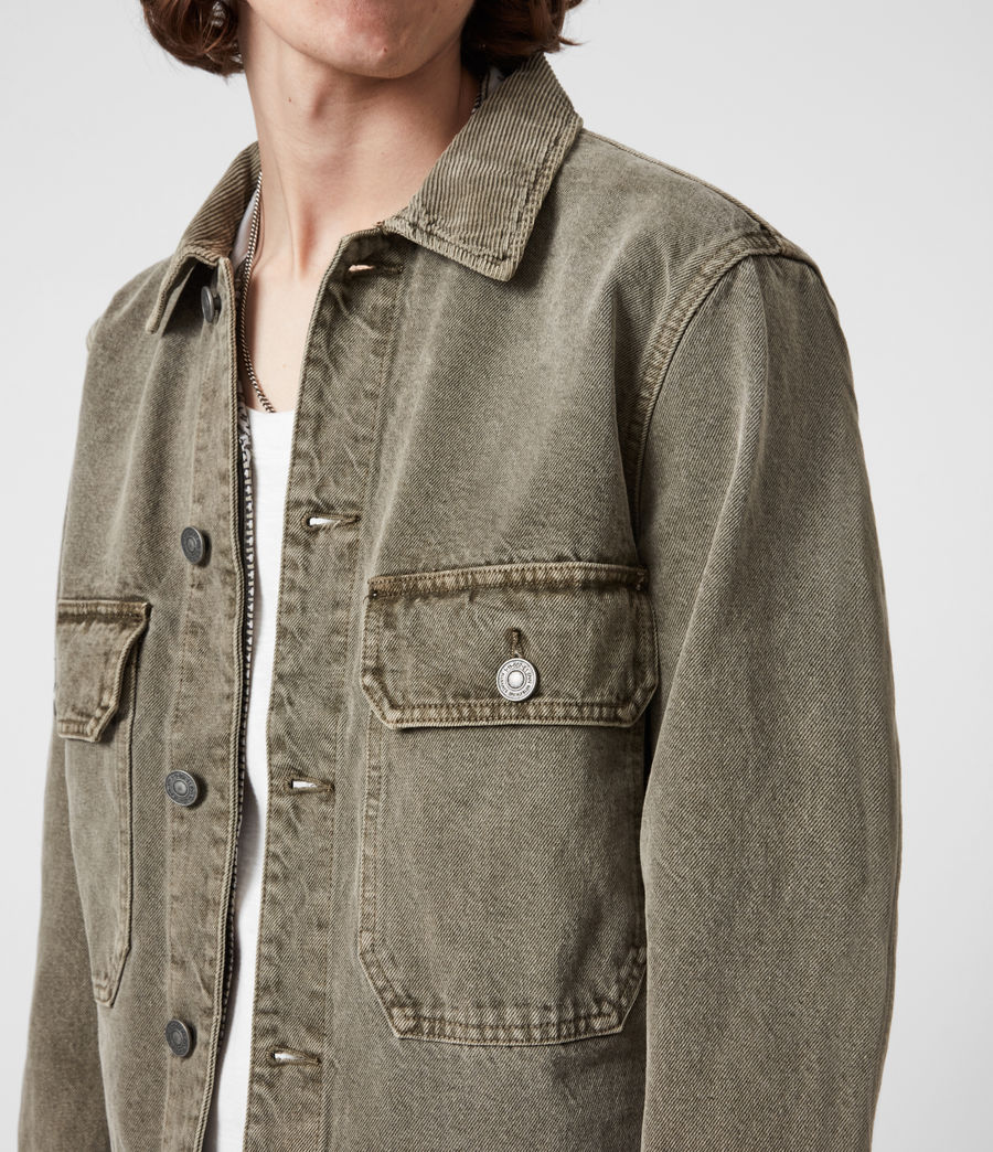 Men's Terrell Cotton Jacket (beech_green) - Image 7