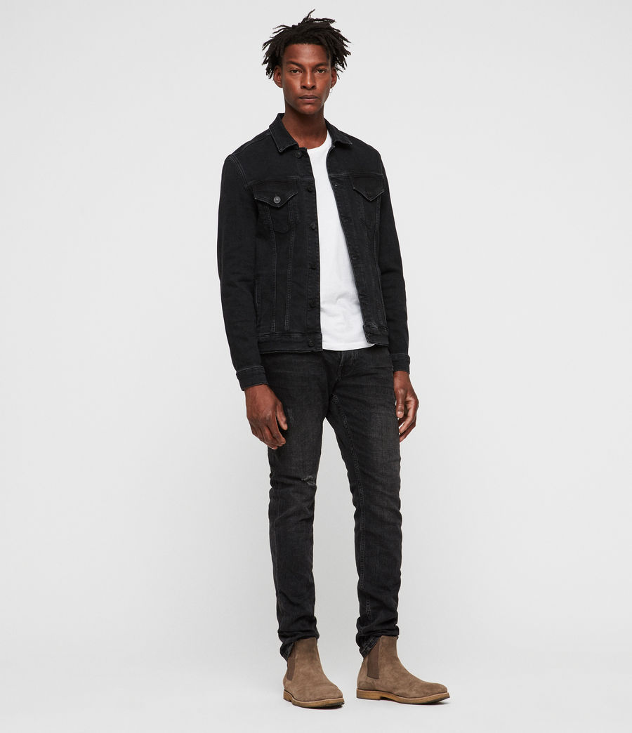 Uomo Giacca in jeans Buzzard (black) - Image 3