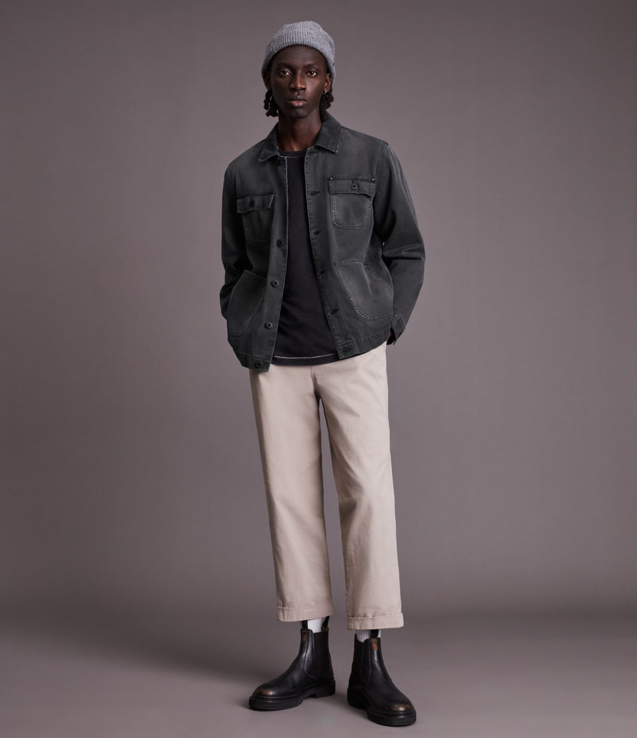 Men's Callum Denim Jacket (washed_black) - Image 2