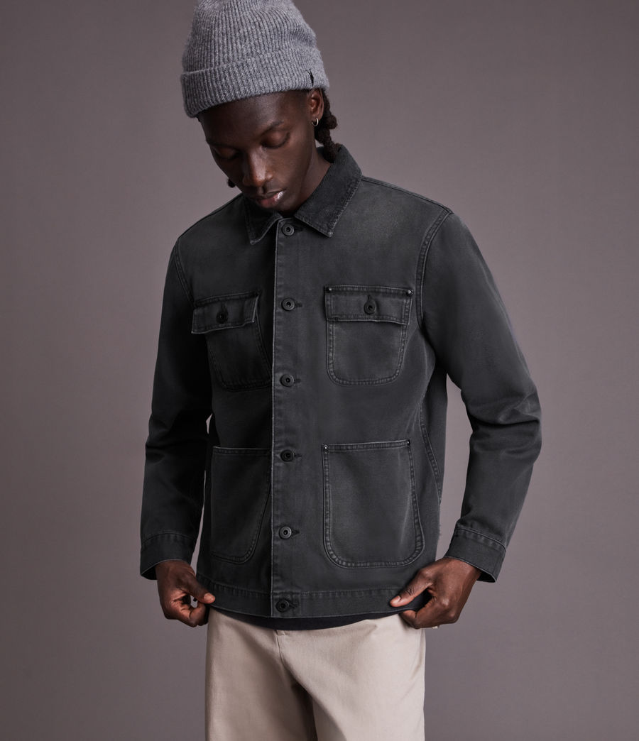 Men's Callum Denim Jacket (washed_black) - Image 3