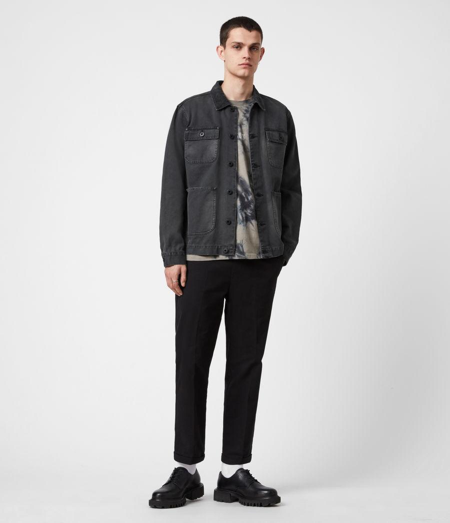 Men's Callum Denim Jacket (washed_black) - Image 6