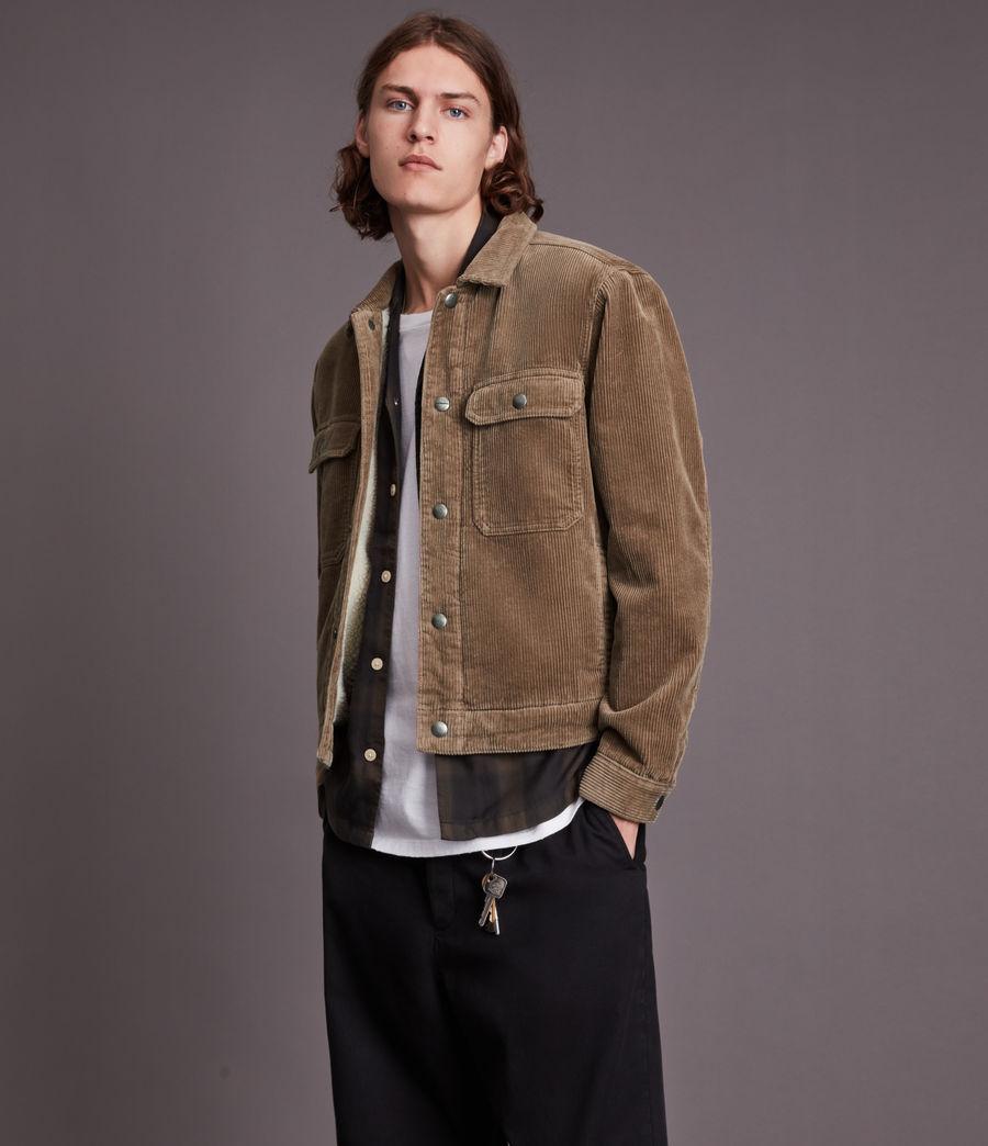Mens Bretton Organic Cotton Jacket (mocha_brown) - Image 1