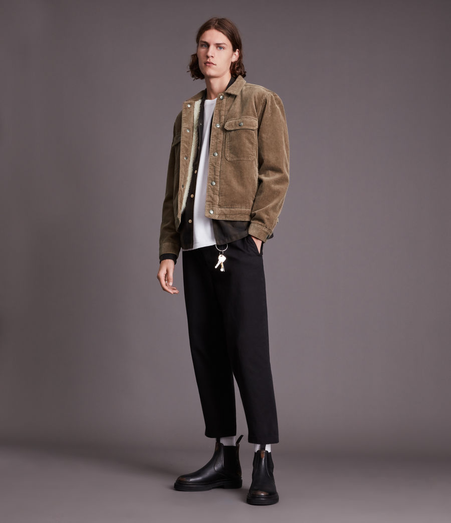 Mens Bretton Organic Cotton Jacket (mocha_brown) - Image 3