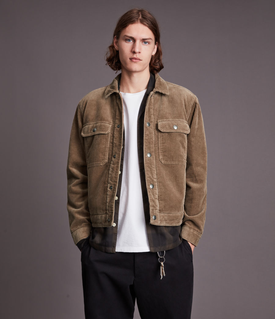 Mens Bretton Organic Cotton Jacket (mocha_brown) - Image 4