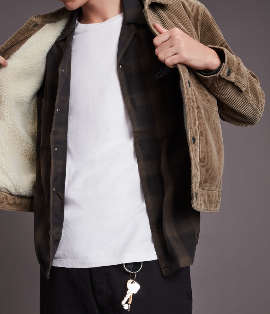 Mens Bretton Organic Cotton Jacket (mocha_brown) - Image 5