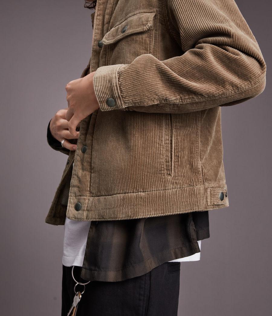 Mens Bretton Organic Cotton Jacket (mocha_brown) - Image 6