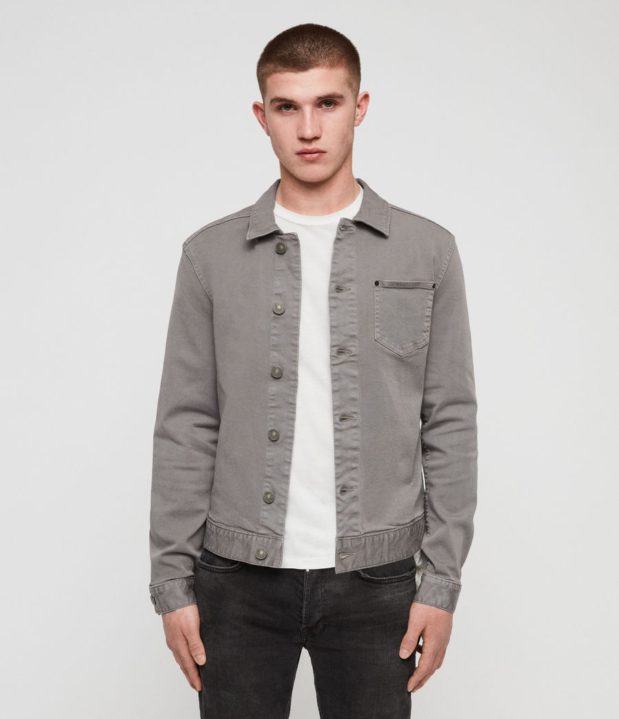 Men's Gole Denim Jacket (grey) - Image 1