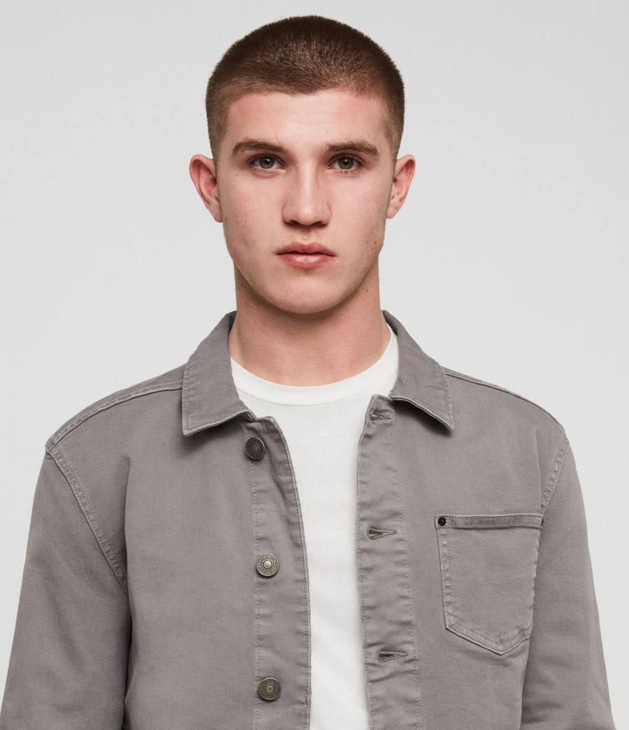 Men's Gole Denim Jacket (grey) - Image 2