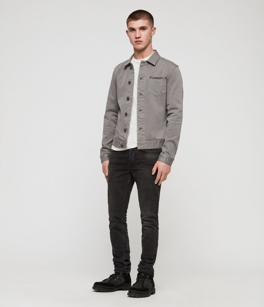 Men's Gole Denim Jacket (grey) - Image 3
