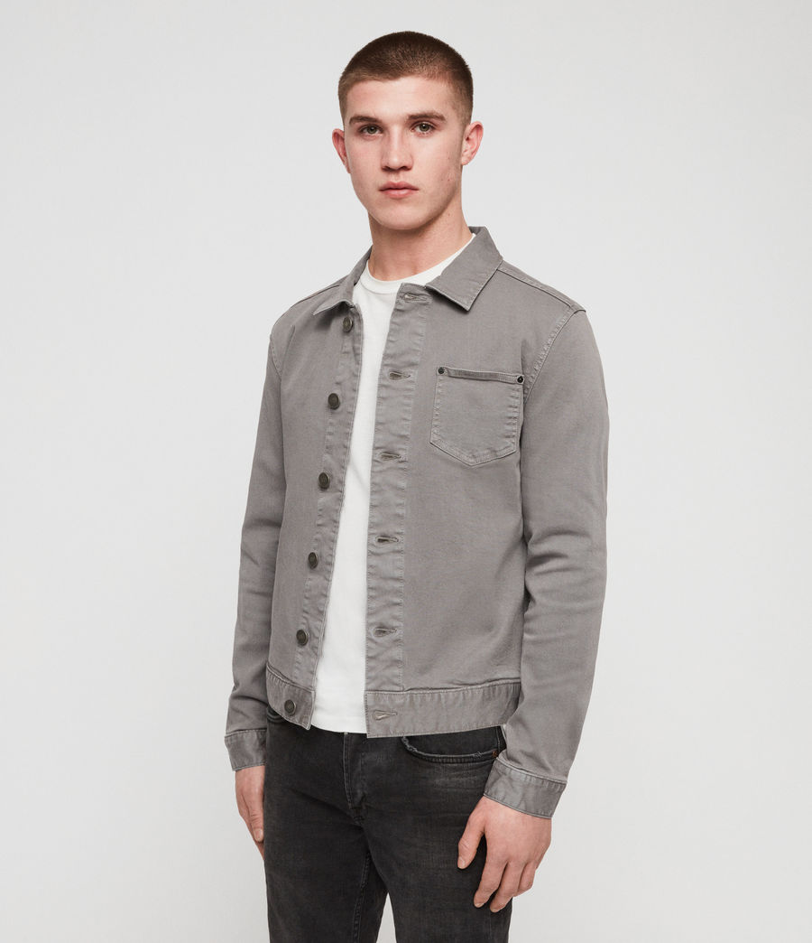 Men's Gole Denim Jacket (grey) - Image 4
