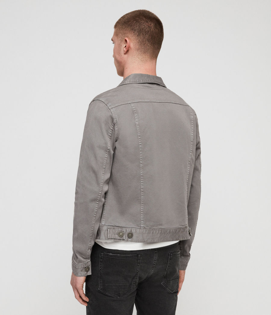Mens Gole Denim Jacket (grey) - Image 5