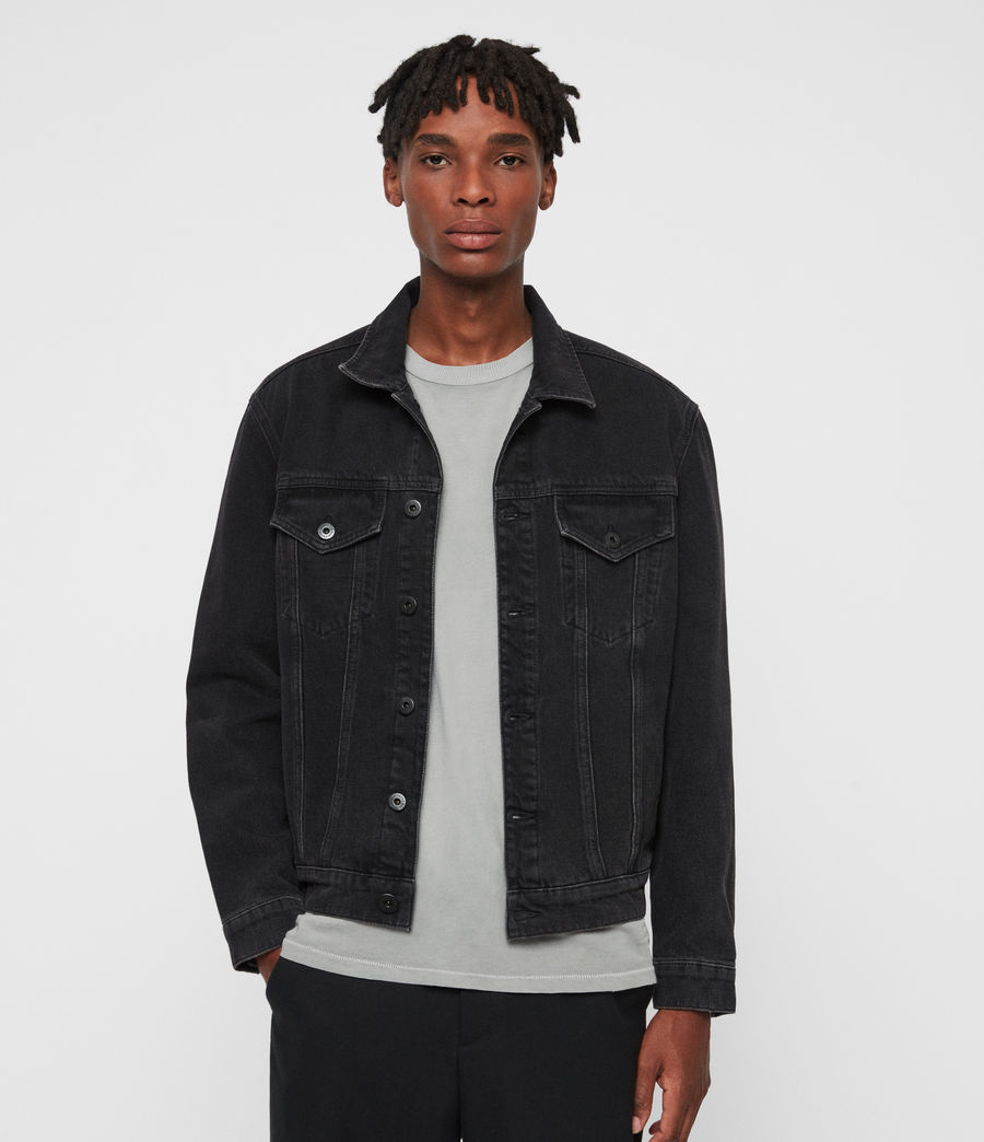 Men's Branscombe Denim Jacket (black) - Image 1