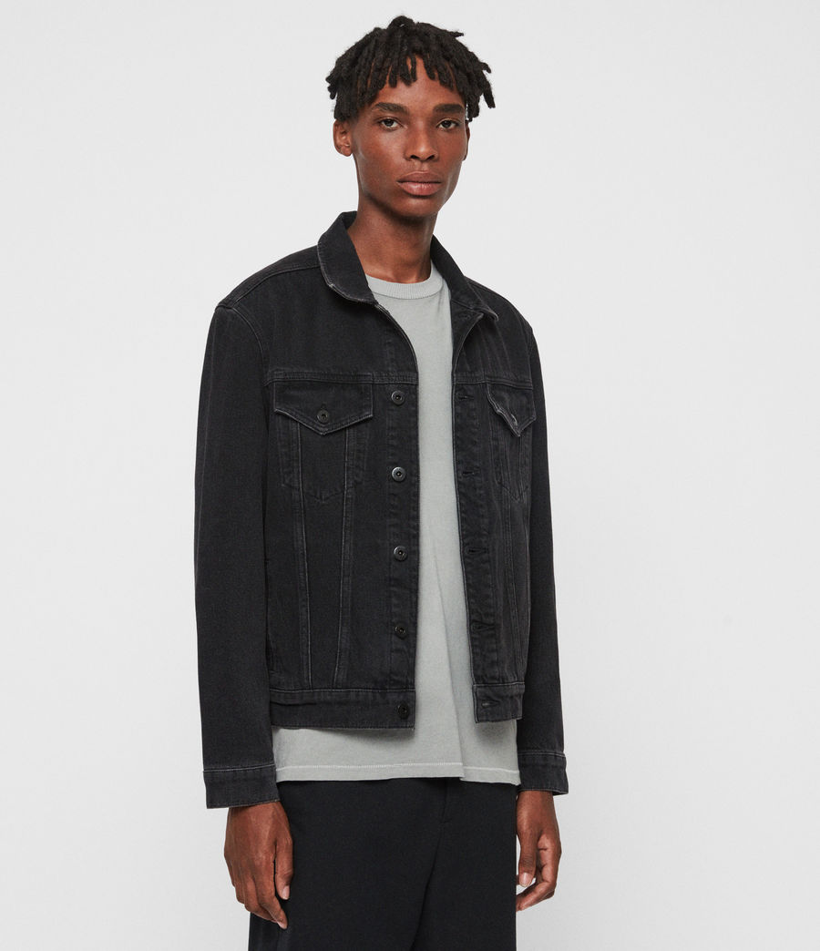 Men's Branscombe Denim Jacket (black) - Image 4