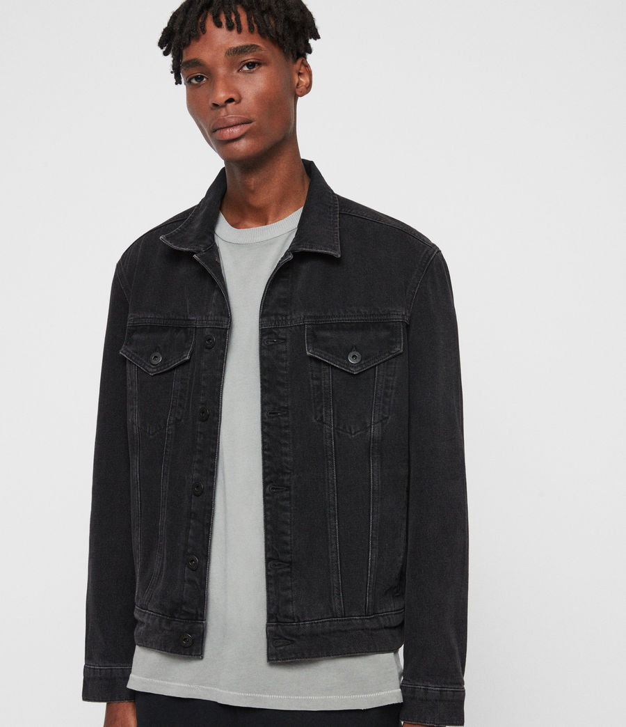 Men's Branscombe Denim Jacket (black) - Image 5