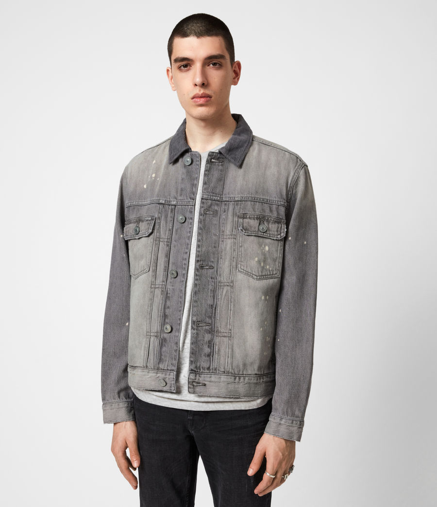Mens Akola Denim Jacket (grey) - Image 1