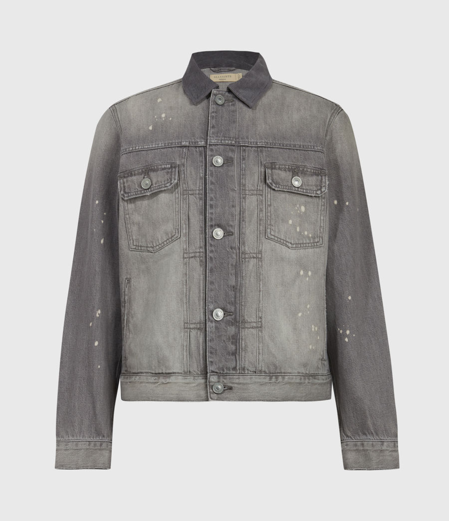 Mens Akola Denim Jacket (grey) - Image 2
