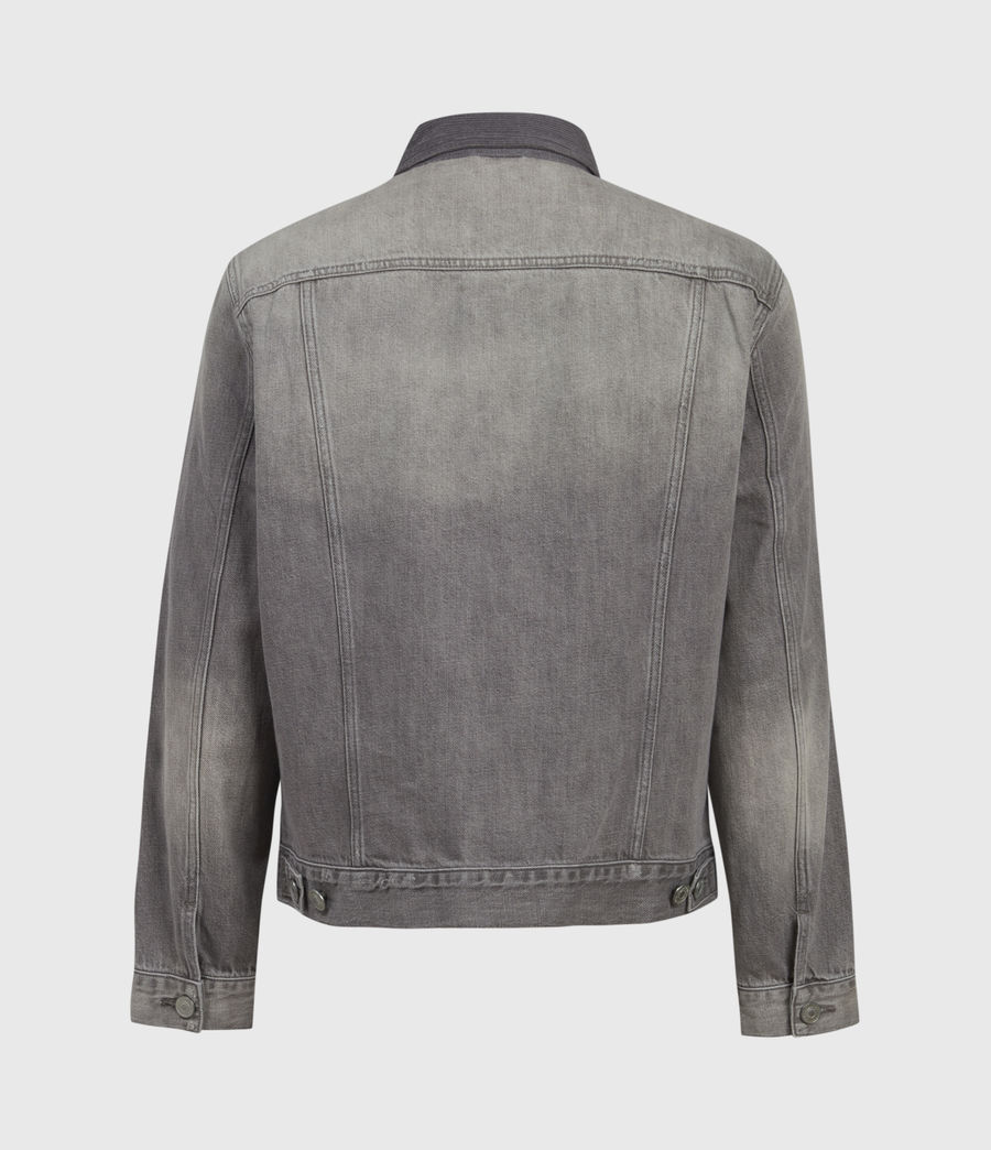 Mens Akola Denim Jacket (grey) - Image 3