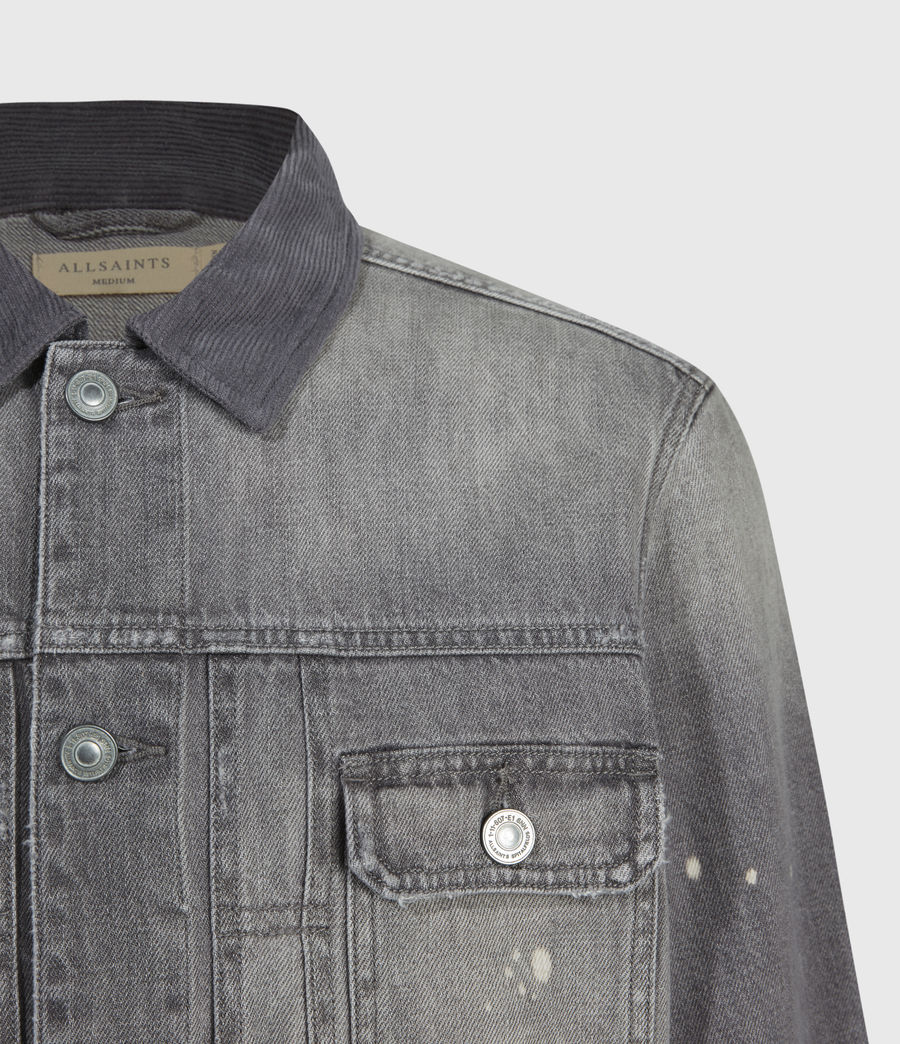Mens Akola Denim Jacket (grey) - Image 4