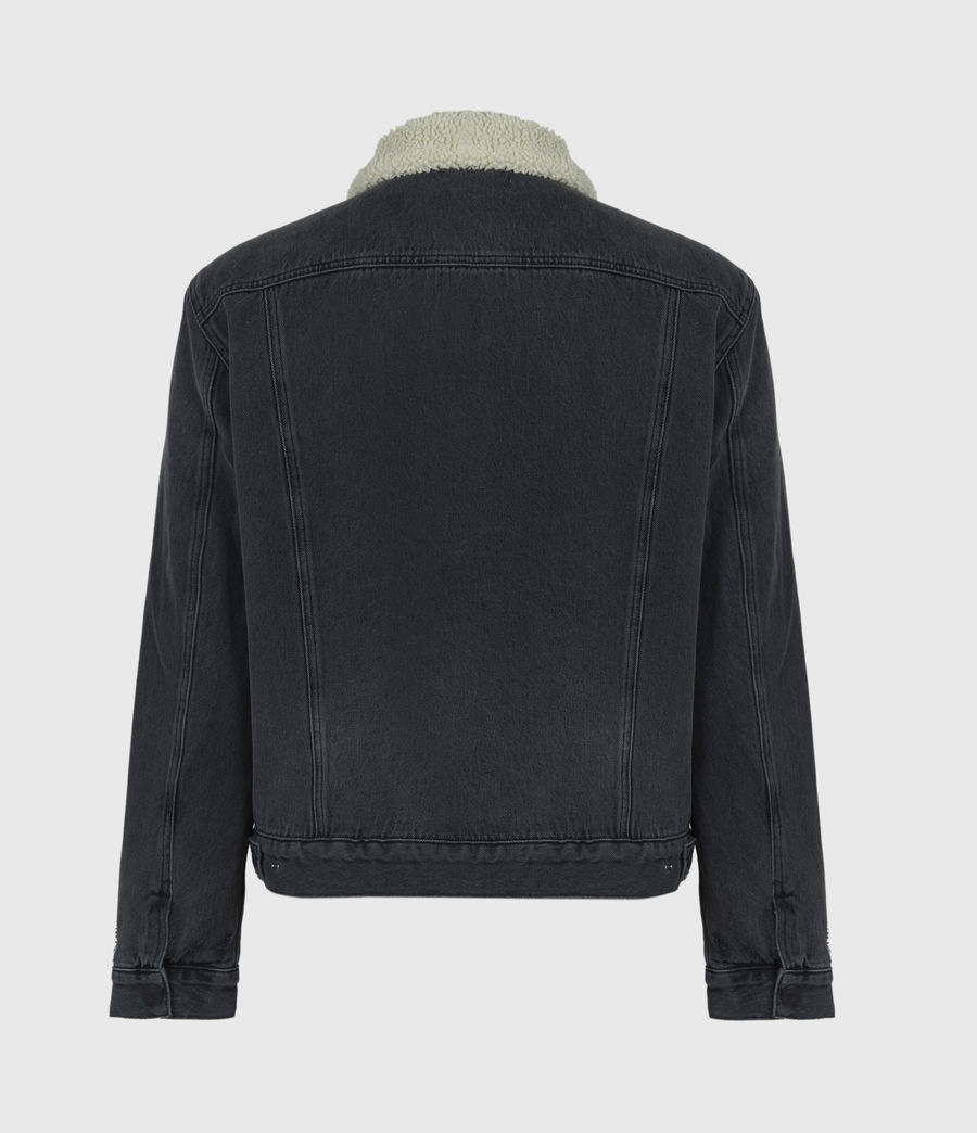 Men's Morton Sherpa-Lined Denim Jacket (washed_black) - Image 3