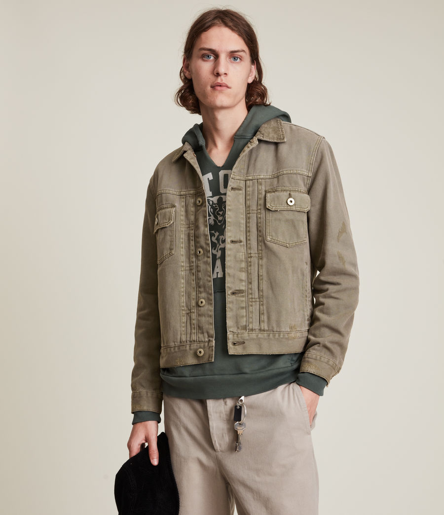 Mens Scalby Organic Cotton Jacket (woodland_brown) - Image 1