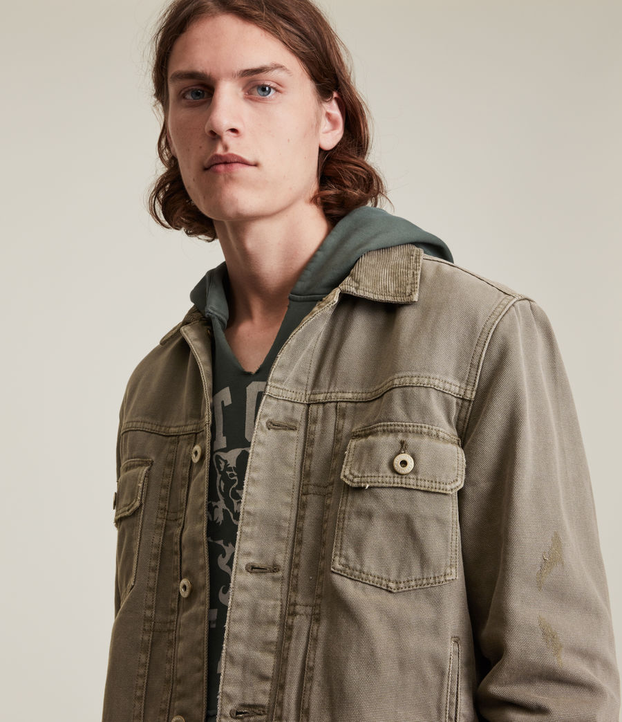 Mens Scalby Organic Cotton Jacket (woodland_brown) - Image 2