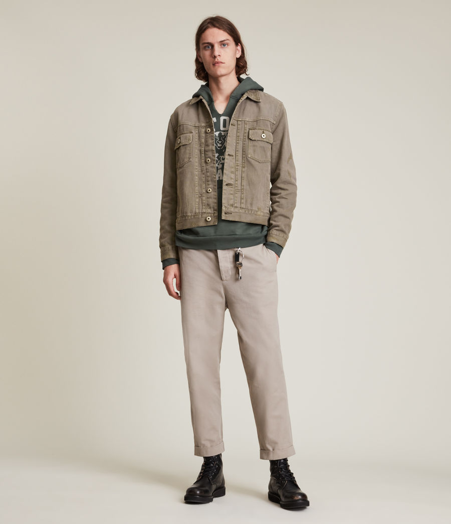 Mens Scalby Organic Cotton Jacket (woodland_brown) - Image 3