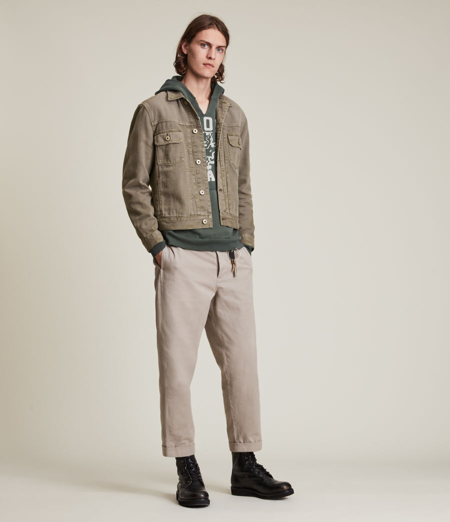 Mens Scalby Organic Cotton Jacket (woodland_brown) - Image 4