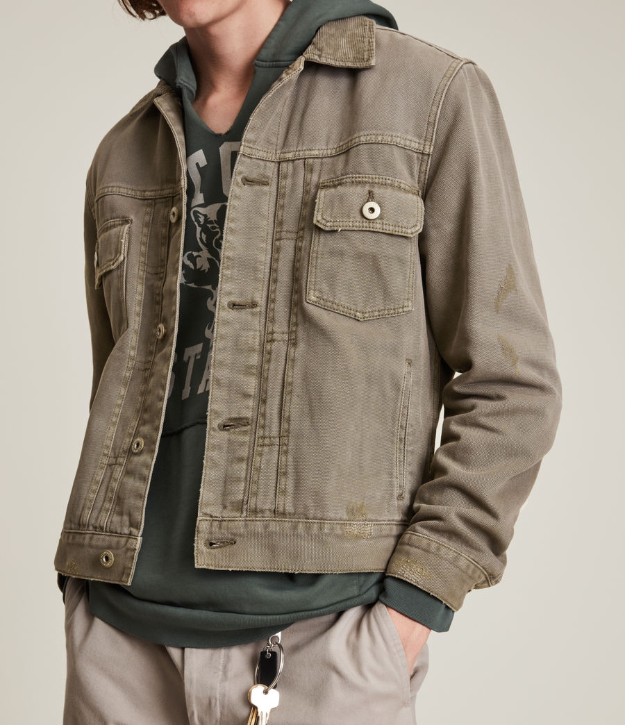 Mens Scalby Organic Cotton Jacket (woodland_brown) - Image 5