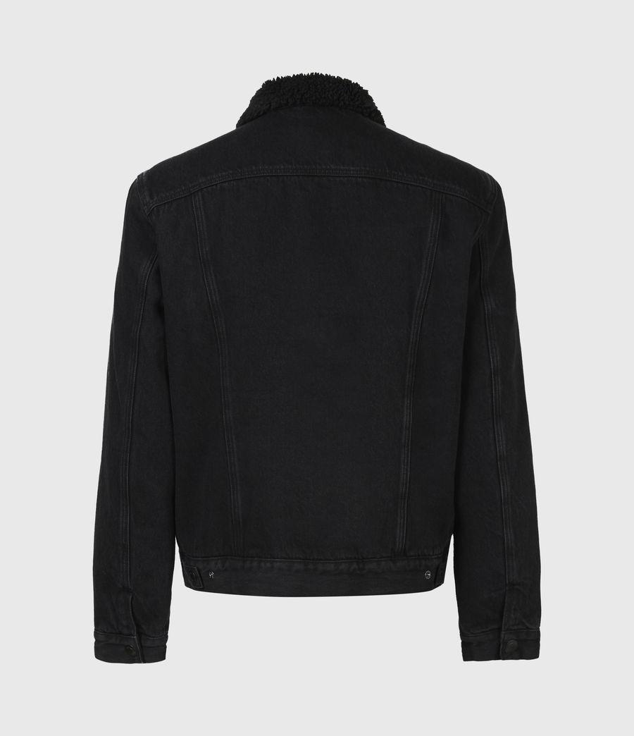 Mens Alder Sherpa-Lined Denim Jacket (black) - Image 3
