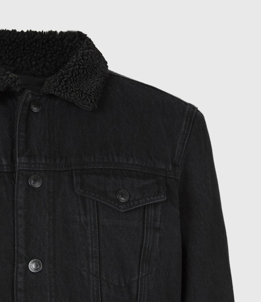 Mens Alder Sherpa-Lined Denim Jacket (black) - Image 5