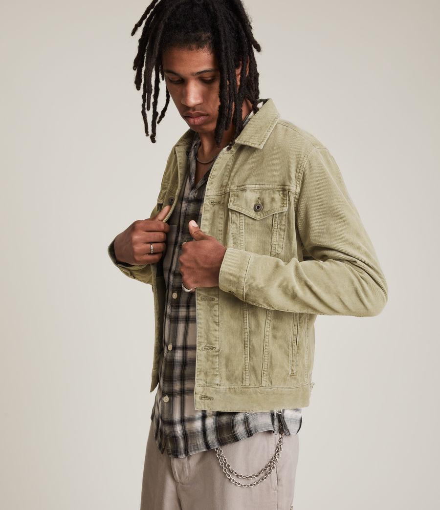 Mens Marton Organic Cotton Denim Jacket (dusty_olive_green) - Image 1