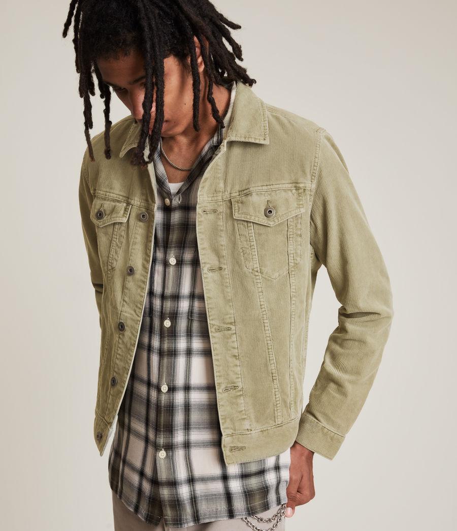 Mens Marton Organic Cotton Denim Jacket (dusty_olive_green) - Image 3