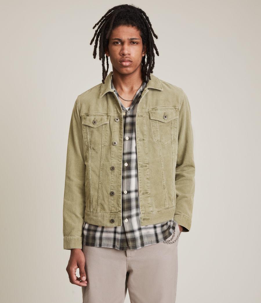 Mens Marton Organic Cotton Denim Jacket (dusty_olive_green) - Image 4