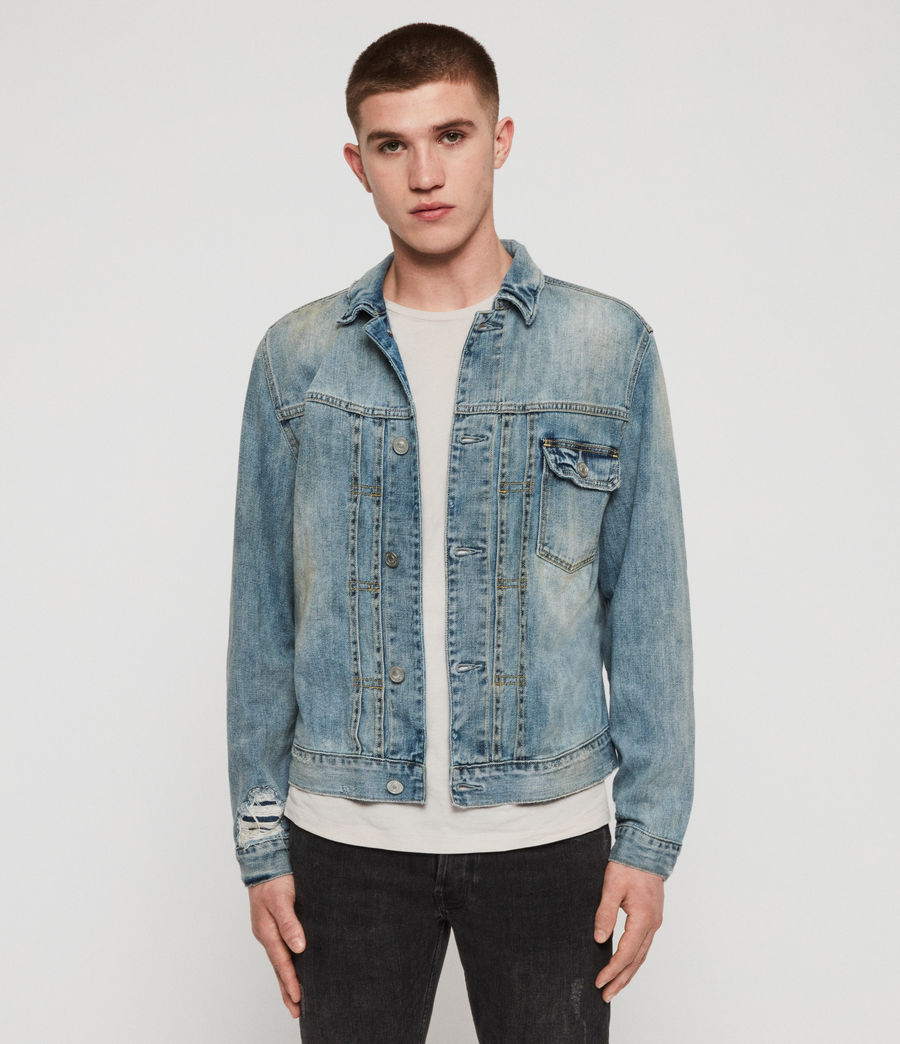 Mens Isidro Denim Jacket (mid_indigo_blue) - Image 1