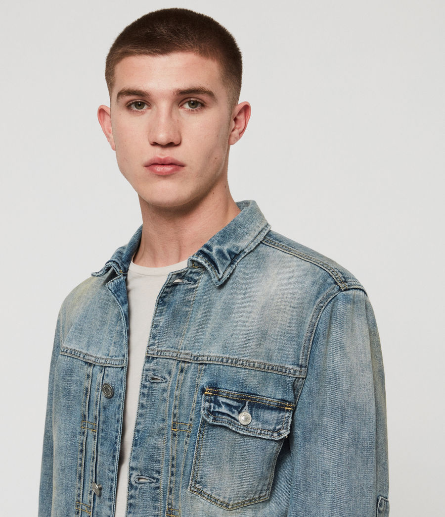 Mens Isidro Denim Jacket (mid_indigo_blue) - Image 2