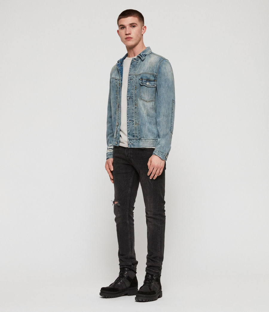 Mens Isidro Denim Jacket (mid_indigo_blue) - Image 3