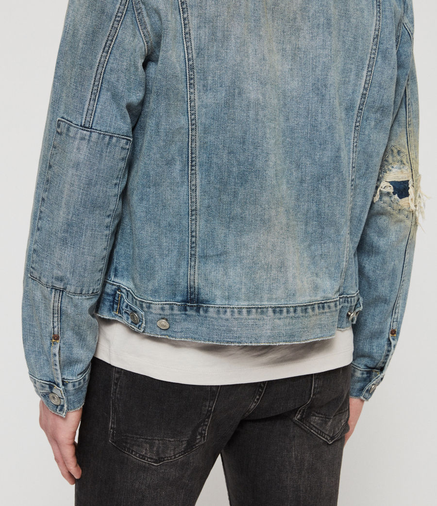 Mens Isidro Denim Jacket (mid_indigo_blue) - Image 4