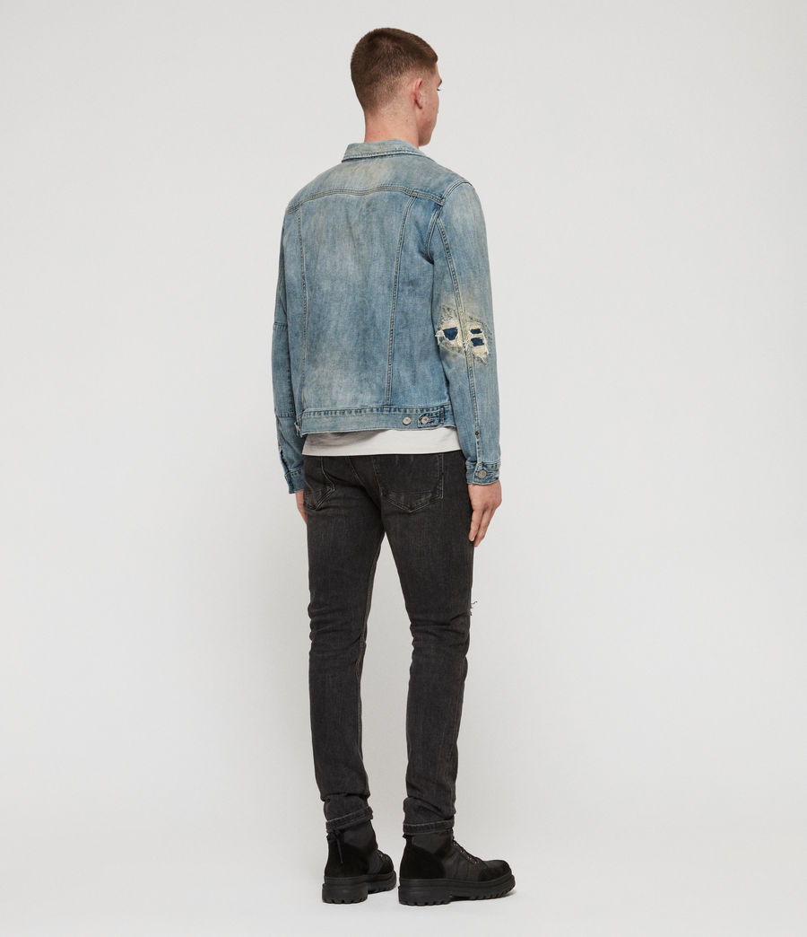 Mens Isidro Denim Jacket (mid_indigo_blue) - Image 5