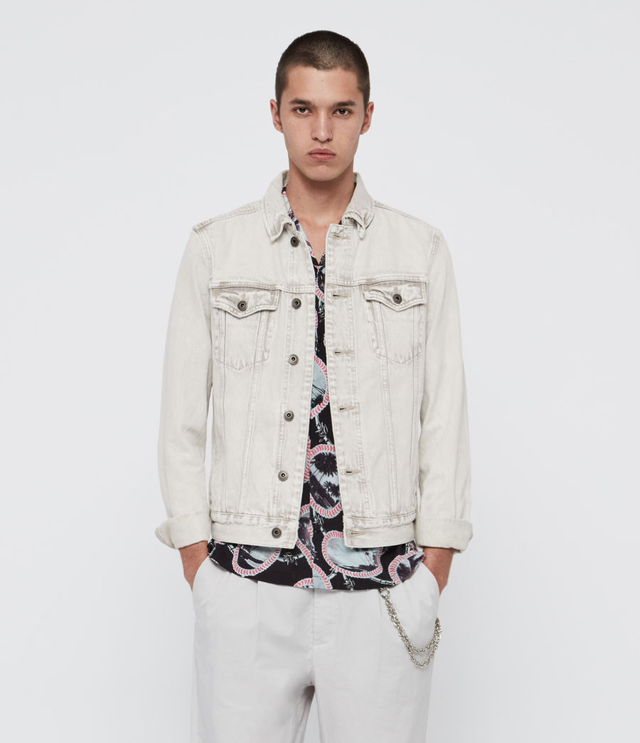 Hombres Kota Denim Jacket (light_grey) - Image 1