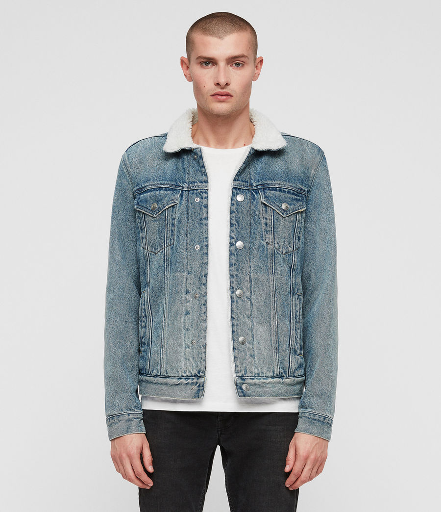 Men's Interbay Denim Jacket (mid_indigo_blue) - Image 1