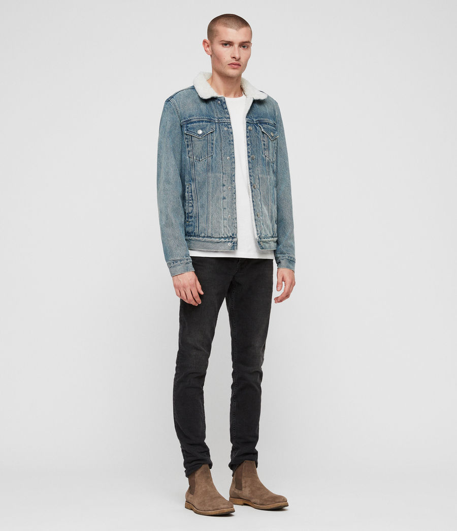 Men's Interbay Denim Jacket (mid_indigo_blue) - Image 3