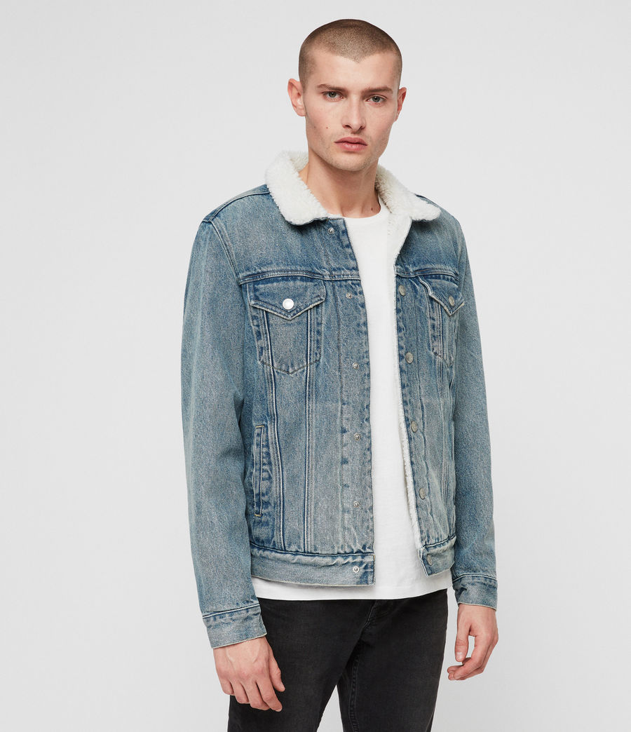 Men's Interbay Denim Jacket (mid_indigo_blue) - Image 4