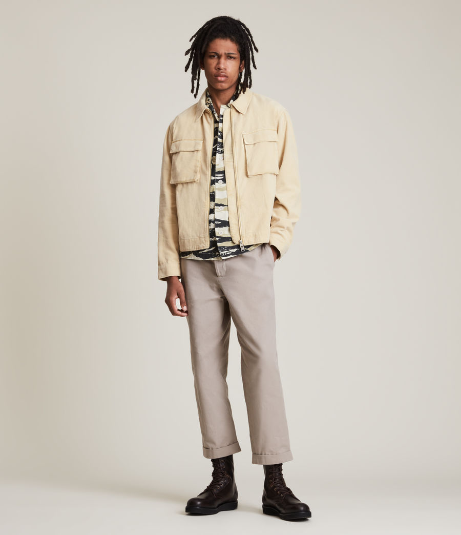 Herren Clifton Organic Cotton Jacket (ravine_yellow) - Image 3