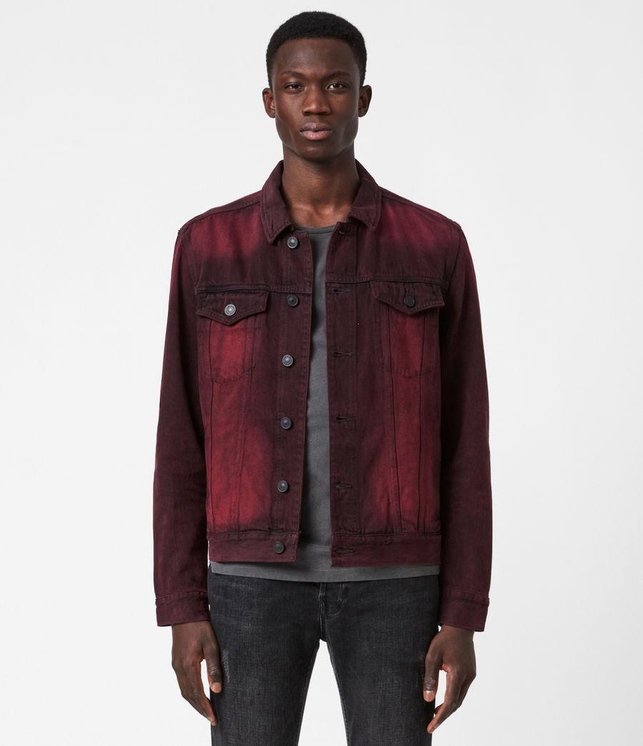 Men's Iskar Denim Jacket (junberry_red) - Image 1