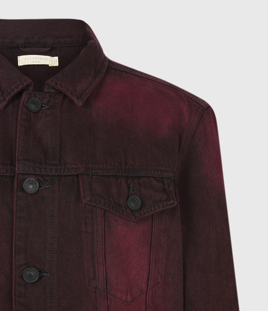 Men's Iskar Denim Jacket (junberry_red) - Image 4