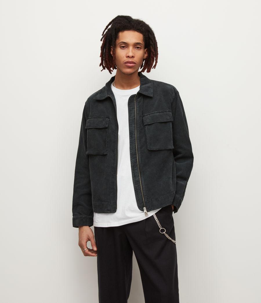 Mens Clifton Organic Cotton Jacket (jet_black) - Image 1