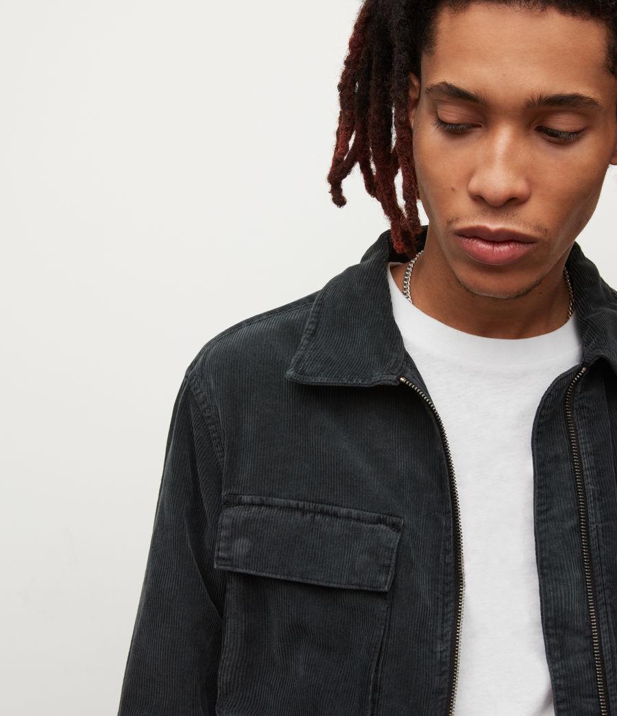 Mens Clifton Organic Cotton Jacket (jet_black) - Image 2