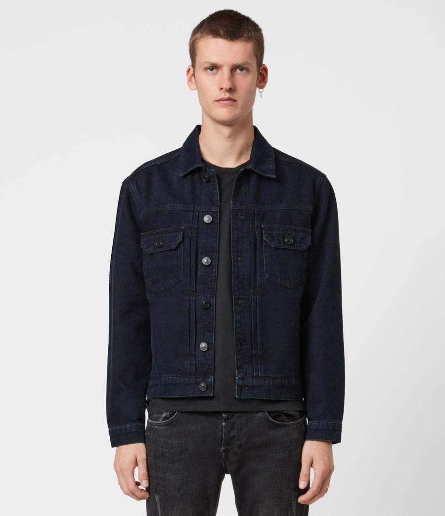 Men's Tegel Denim Jacket (blue_black) - Image 4