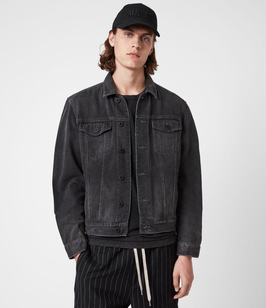 Men's Ceremony Denim Jacket (washed_black) - Image 4