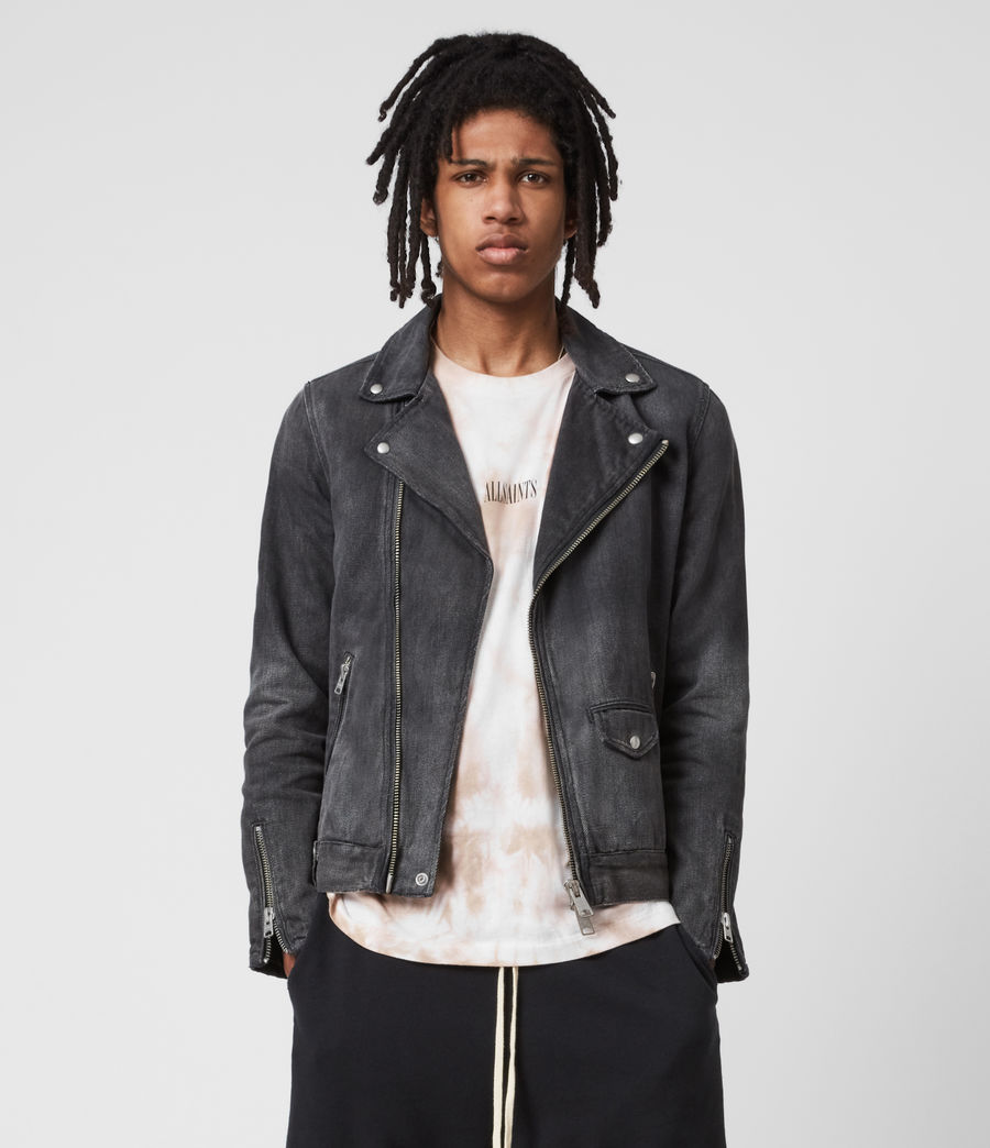 Men's Burgess Denim Jacket (washed_black) - Image 1